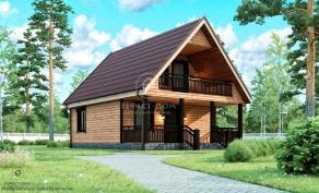 Дом из строганого бруса - Гефест-Дом. Проект, цена, фото и отзывы.